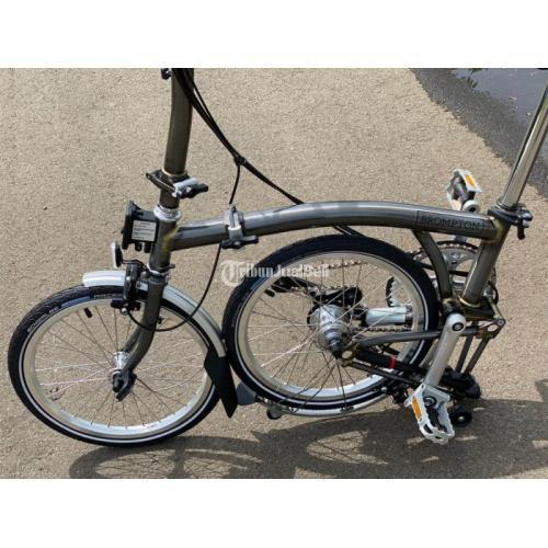 Sepeda Lipat Brompton H6L Raw Lacquer 2020 Like New Istimewa Harga Murah - Jakarta