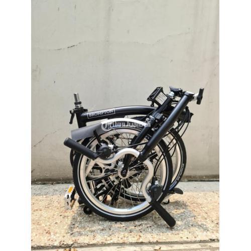 Sepeda Lipat Bekas Brompton M6L Black BNIB Fullset Harga Murah - Jakarta