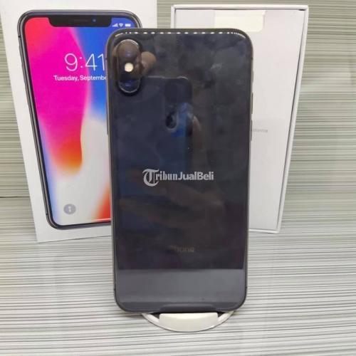 HP Bekas iPhone X 64GB Grey Like New Lengkap Ex Inter Normal Harga Murah - Semarang