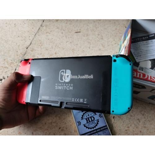 Konsol Game Nintendo Switch V1 Neon CFW SX Second Fullset Ori Like New - Surabaya