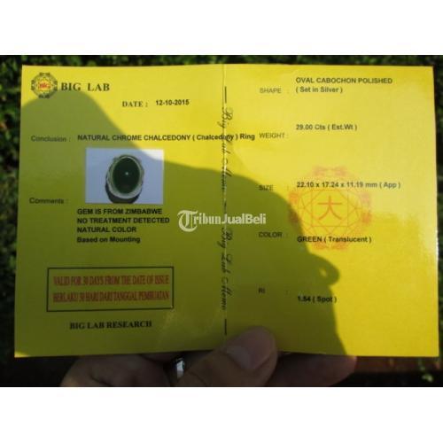 Natural Ijo Garut Chrome Chalcedony No Treatment Memo Big Lab GRT003 - Jakarta