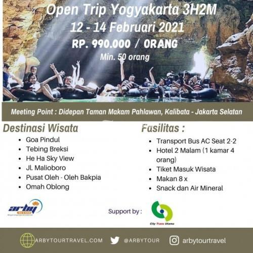 Open Trip Yogyakarta Spesial Valentine 2021 - Jakarta Selatan