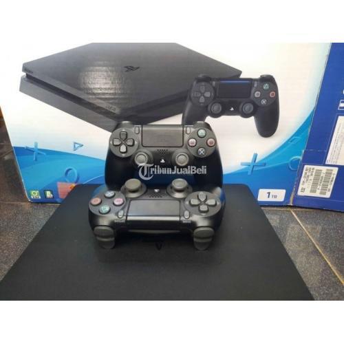 Konsol Game PS 4 Slim 1 TB Seri Tertinggi 2218b Dus Kitab Lengkap - Jogja