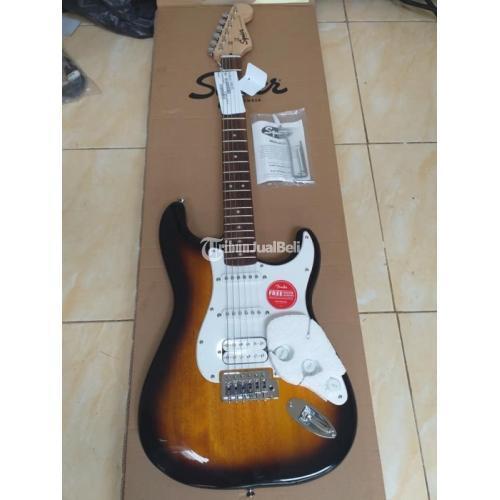 Gitar Squire Bullet HSS Tobaco Sundrush Masih Bagus Fullset Harga nego - Jakarta