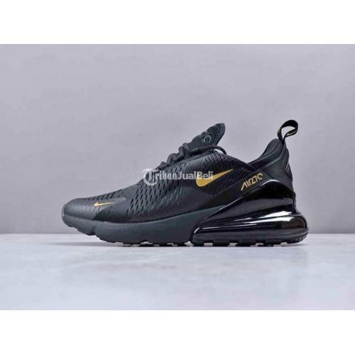 Sepatu Nike Air Max 270 Black Gold Mulus Premium Lengkap Harga Murah - Jakarta