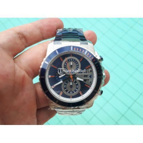 Jam Tangan Pria Alexandre Christie AC6455 AC 6455 Original Silver Blue ALC005 - Jakarta Pusat
