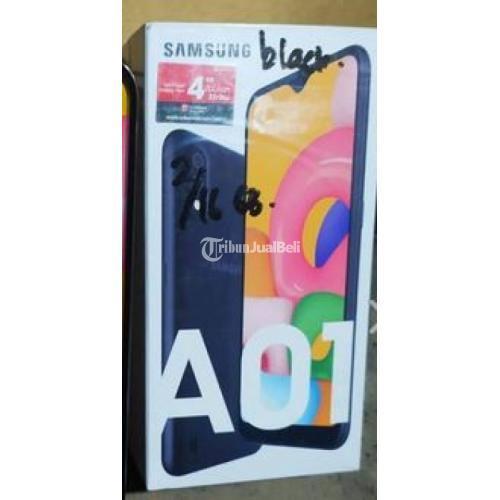 HP Samsung A01 Bekas Warna Black Ram 2GB 16GB Lengkap Like New Murah - Jogja