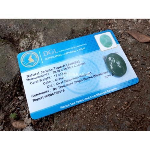 Natural Giok Jadeite Jade Type A JDT010 Cobochon Origin Burma 17cts - Jakarta
