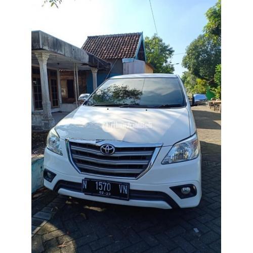 Toyota Innova G Diesel Manual 2013 Putih Bekas Bagus Mulus Pajak Panjang - Surabaya