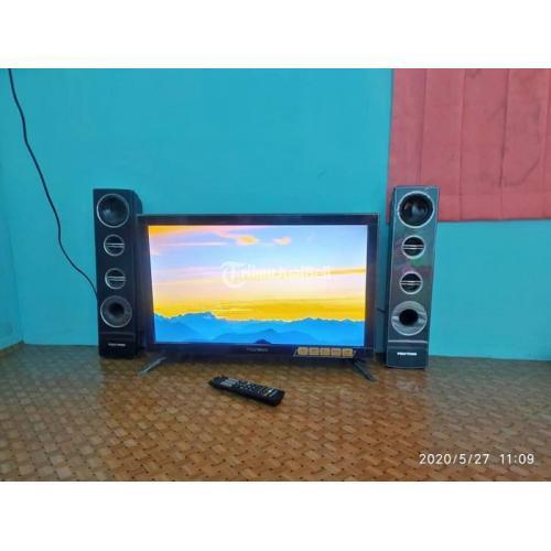 LED TV Polytron 24 Inch Bekas Support USB Normal Harga Nego Murah - Samarinda