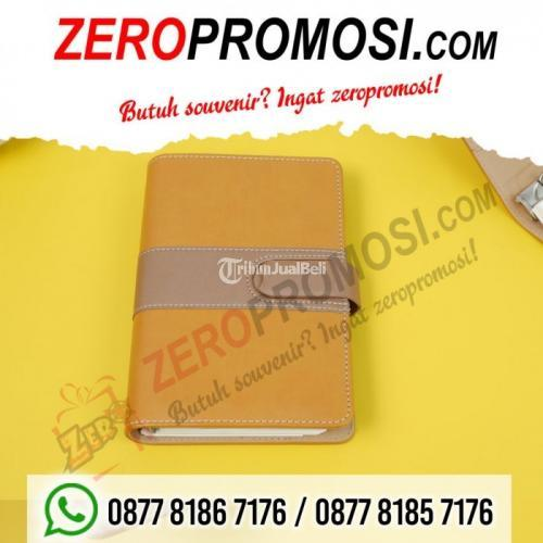 Souvenir Buku Catatan Agenda Binder Note Cover Kulit With Kalkulator - Tangerang