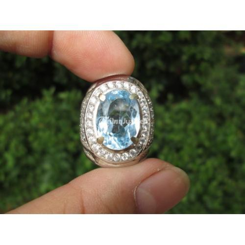 Cincin Natural Blue Topaz Indah Ikatan Mewah TPZ002 Harga Murah - Jakarta