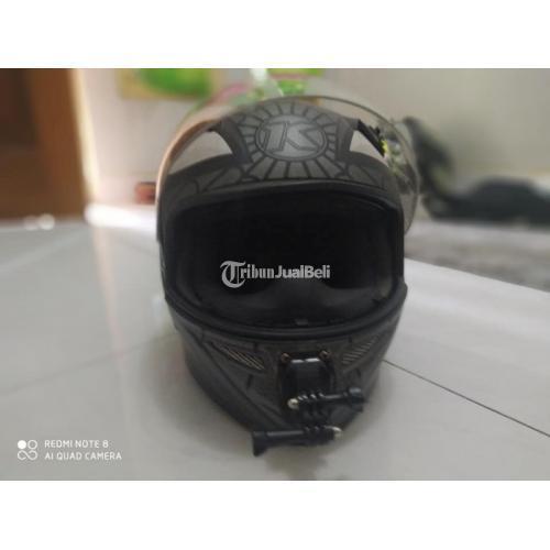 Helm KYT Fullface Ukuran L Bekas Bagus Pasang Kamera GoPro - Jogja