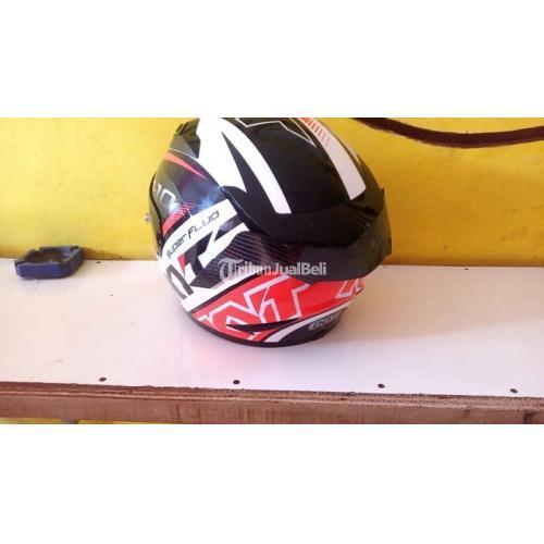 Helm KYT R10 Size M Flat Smoke Spoiler Second Wangi Bersih - Temanggung