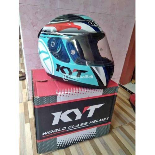 KYT Fullface Aquamarine Blue Size L Second Fullset Like New - Surabaya