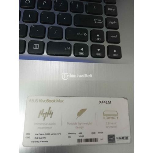 Laptop Asus X441MA Bekas Intel N4000 Normal Ram 4GB Harga Murah - Bandung