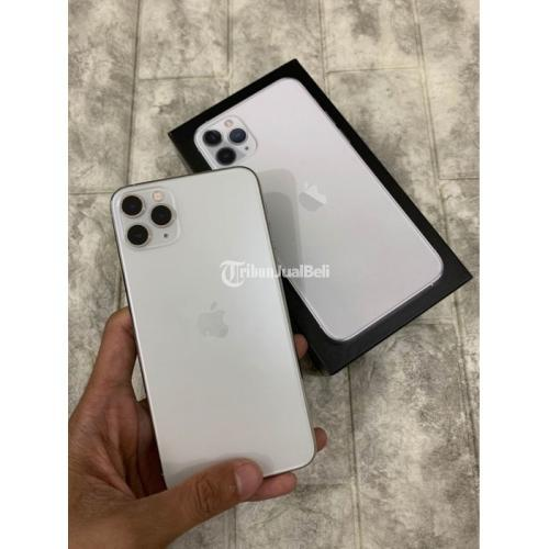 iPhone 11 Pro Max 256GB Putih Mulus Like New Ex Inter Fullset - Semarang