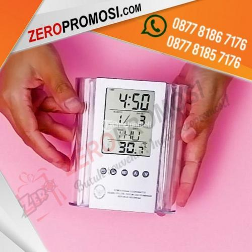 Souvenir Jam Meja Digital Pen Holder JMP03 - Tangerang