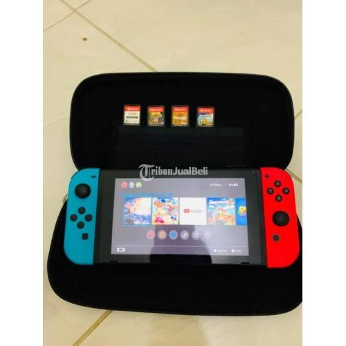 Konsol Game Nintendo Switch V1 Neon Red Blue Second Normal - Bekasi