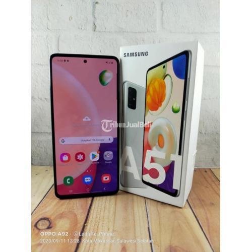 Hp Samsung Galaxy A51 Silver Ram 8 128gb Bekas Fullset Mulus Di Makassar Tribunjualbeli Com