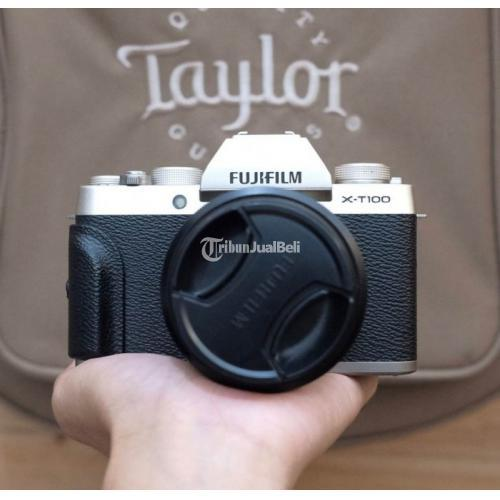 Kamera Mirrorless Fujifilm XT100 Lensa Kit Second Normal No Vignet - Kebumen