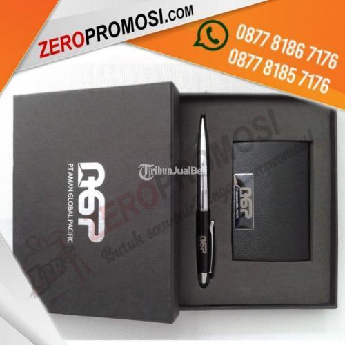 Souvenir Gift set 2in1 Grafir 1sisi + Box Poly Silver - Tangerang