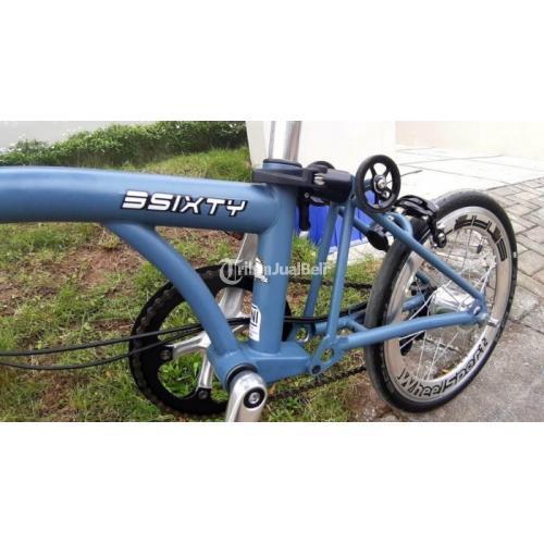 Sepeda Lipat 3 Sixty Phantom Grey Full Upgrade Second Bagus - Magelang