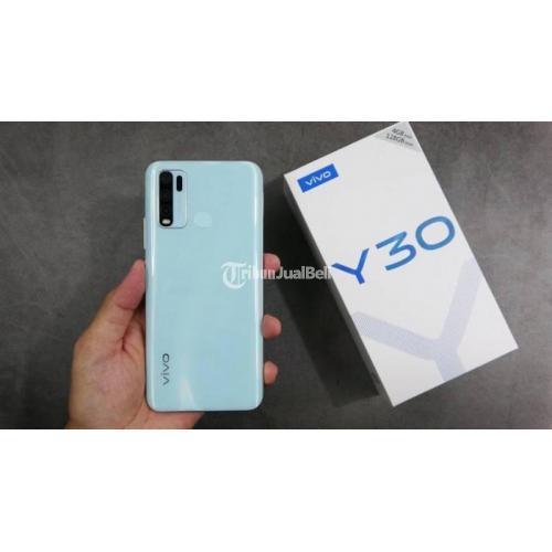 HP Bekas Vivo Y30 Ram 4/128GB Fullset Mulus Nominus Harga Nego - Bekasi