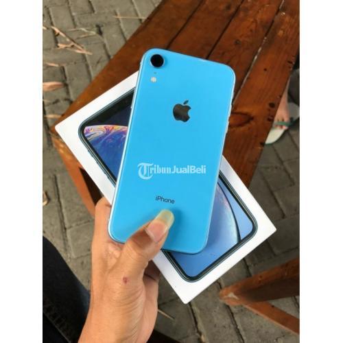 HP iPhone XR Blue 128Gb Bekas Garansi Inter Normal Fullset Harga Murah - Surabaya