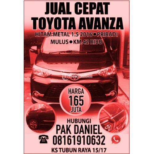 Harga Mobil Toyota Avanza Bekas Rp 165 Juta Tahun 2016 Normal Murah - Jakarta