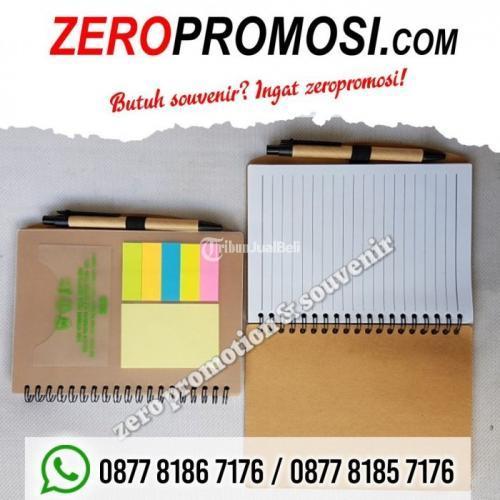 Souvenir Memo Daur Ulang Promosi Kantor Souvenir Eco Green Merchandise - Tangerang