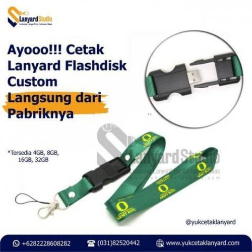 Cetak USB Lanyard Custom Min 10PCS Free Ongkir ke Seluruh Wilayah Indonesia - Surabaya