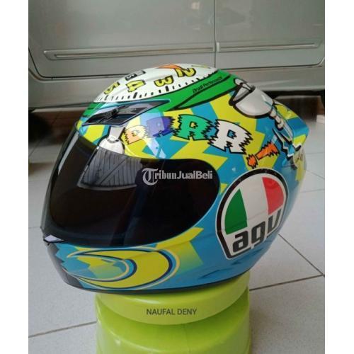 Helm Full Face AGV K3 Livery Rossi WakeUp Size L Bekas Visor Clear Ori - Semarang