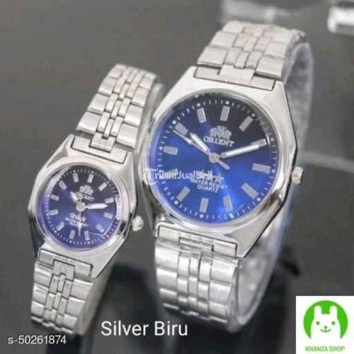 Jam Tangan Couple Casual Harga Murah Analog Tali Silver/Gold - Bogor