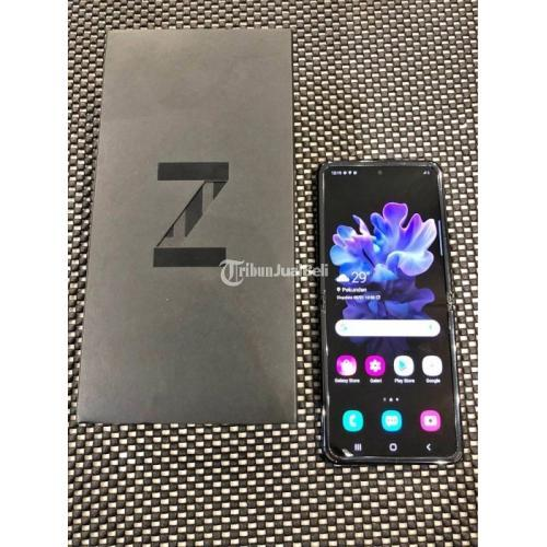 HP Bekas Samsung Galaxy Z Flip 8/256 Mirror Black Fullset Mulus Harga Murah - Semarang