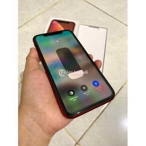 iPhone XR 64GB Hp Bekas Warna Merah Fullset No Minus Mulus Icload Kosong - Surabaya