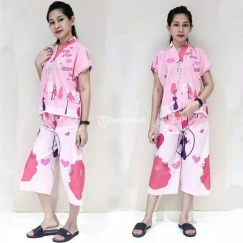 Piyama Kimono Kerah V All Size Bahan Katun Eropa Premium - Blora