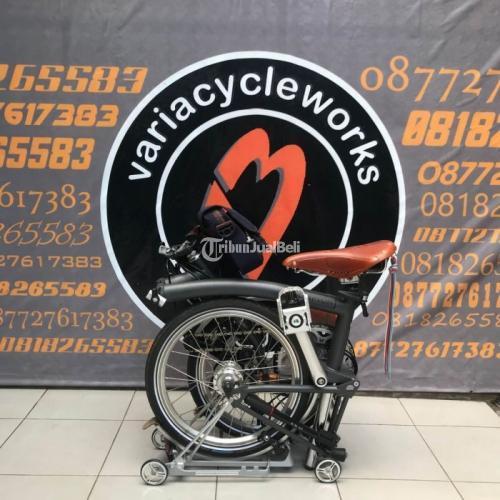 Sepeda Lipat Brompton M6L Grey Graphite 2x3 Speed Bekas Like New Harga Murah - Jogja