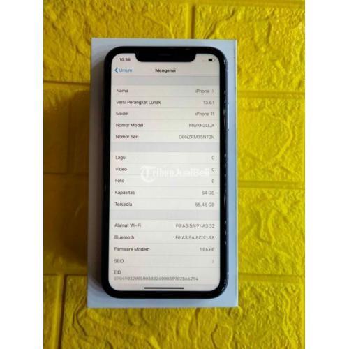 HP Apple iPhone 11 Purple 64GB Ex Inter Fullset Mulus Nominus Harga Nego - Semarang