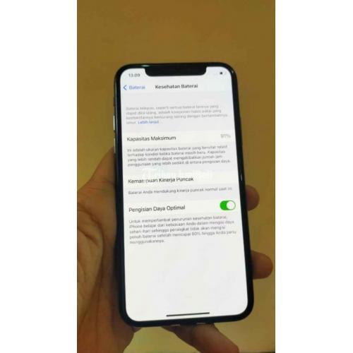 HP Apple Bekas iPhone XS 64GB Gray Ori Lengkap 3utools Ijo Seger Harga Murah - Surabaya