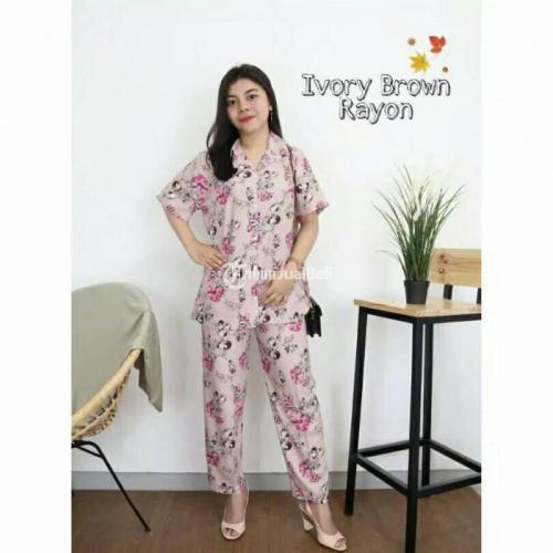 Piyama One set/Daily Set Bahan Krayon Adem Harga Murah All Size - Blora