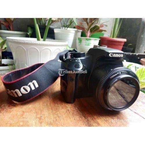 Kamera Canon 1000D Harga Nego Bekas Warna Hitam Lensa 2 Baterai 2 - Depok