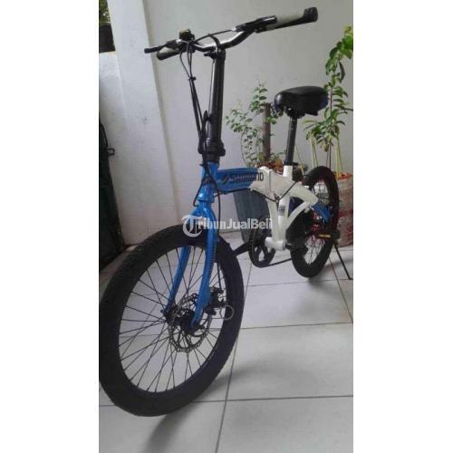 Sepeda Shimano 2020 Warna Biru Putih Harga Murah Mulus - Bekasi