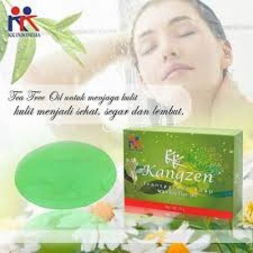 Kangzen Transparant Soap With Tea Tree Oil untuk Jerawat - Bandung