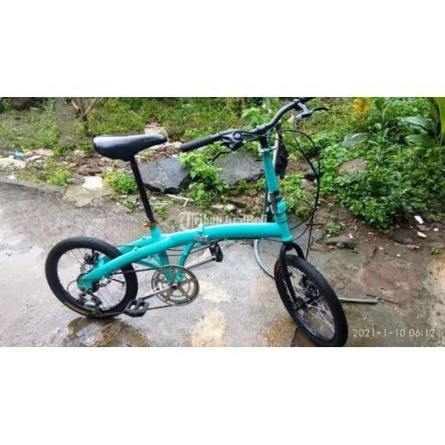 Sepeda Lipat Bekas Ukuran 18inch Full Restorasi Like New Siap Pakai Harga Murah - Semarang