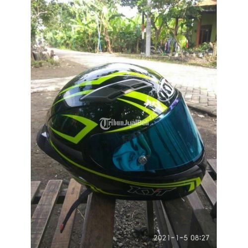 Helm Full Face KYT Falcon Ukuran L Visor Iridium Blue Bekas Harga Nego - Semarang