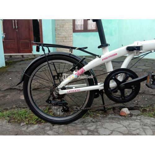 Sepeda Lipat Bekas Urbano 3 Limited Edition Hello Kitty Orisinil Sehat - Jember