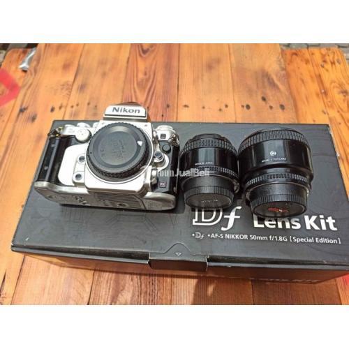 Kamera Mirrorless Bekas Nikon Df Lensa Afd 35 f2 dan 85mm f.,8 Lengkap Normal Harga Nego - Surabaya