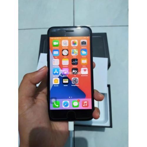 HP iPhone 7 256gb Fullset Warna Jeblack Mulus iCloud Kosong - Semarang