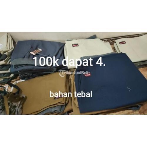 Celana Chinos Pendek & Panjang 100 Dapat 4 Bahan Amerika Drill - Jepara